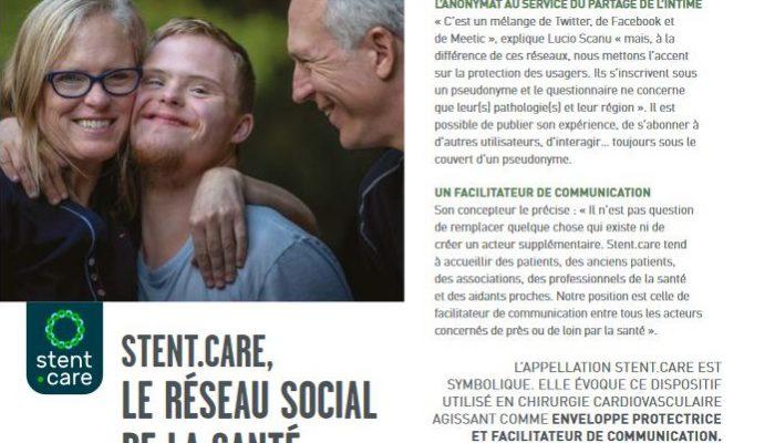 Magazine Solidaris - Stent.care le réseau social de la santé